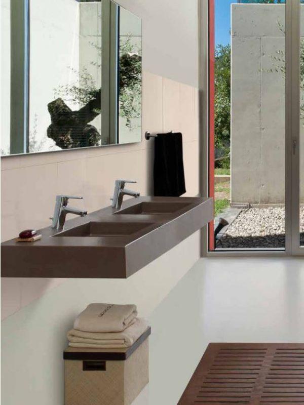 Photographie de vasques suspendues Stone McBath - crédit photos : McBath